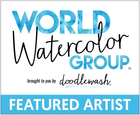 World Watercolor Group Featured Artist badge